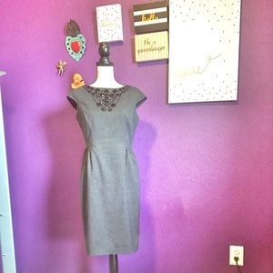 Embellished grey cocktail dress